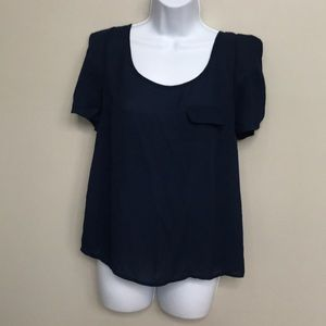 Forever 21 navy blouse